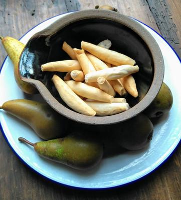 Healthy snack, breadsticks & fruit