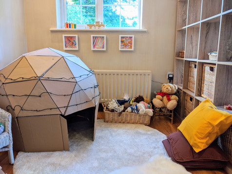 Inside play space