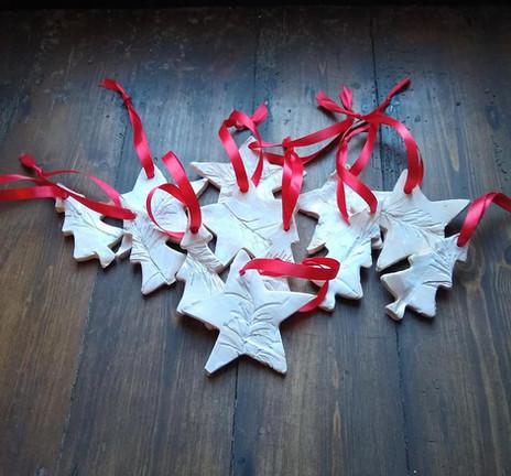 Ceramic stars for Christmas