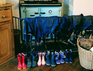 Boots drying by the Aga