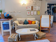 The playroom sofa for cosy reading time