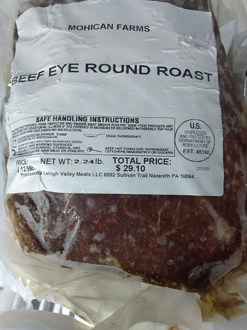Mohican Farm Beef Eye Round Roast