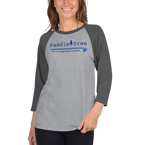 Paddle Tree 3/4 sleeve raglan shirt