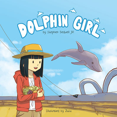 Children's Ocean Vegan Book, Dolphin Girl