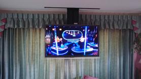 Ever seen a TV hidden ceiling