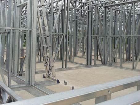Steel-concrete structures Double wall system LGS