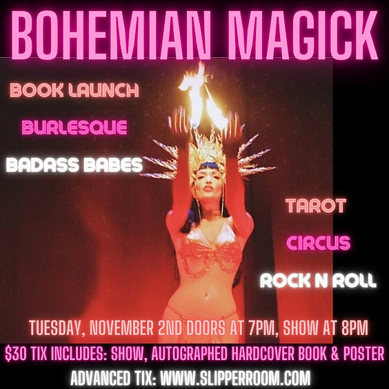 Guest Event:  Veronica Varlow's Bohemian Magick Book Launch Burlesque Extravaganza (Doors 7:00pm)
