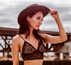 Eunice close up lace top and hat