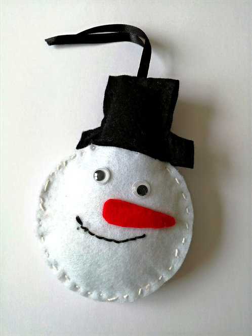 Enfeite Natal Boneco de neve