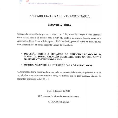 ASSEMBLEIA GERAL EXTRAORDINÁRIA CONVOCATÓRIA