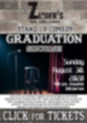Comedy Graduation Show Click for Tix 8.3