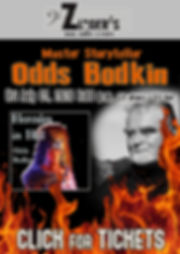 Odds Bodkin Click for Tix at Zingers 202