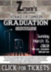 Comedy Graduation Show Click for Tix Mar