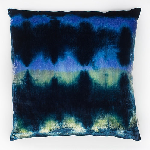 Hand Dyed Silk/Viscose Front+Linen Back Decorative Pillow by LORABILA
