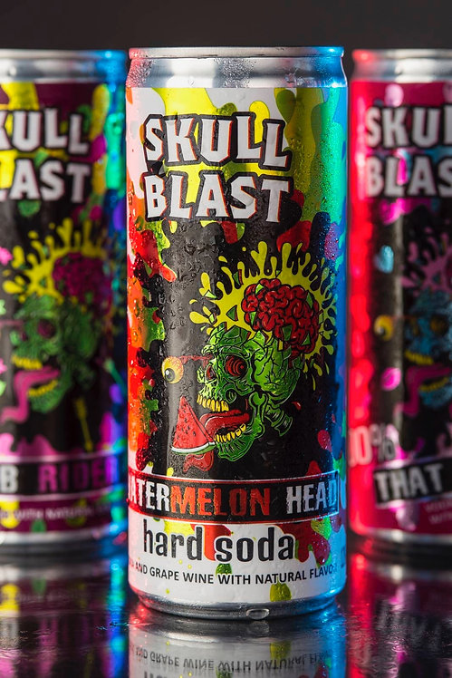 Skullblast Cocktails - Watermelon Head Hard Soda