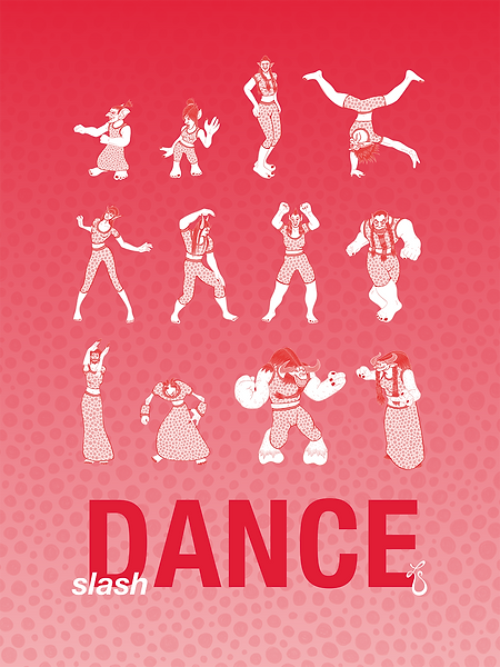 slash Dance (Red) // Poster Illustration & Design