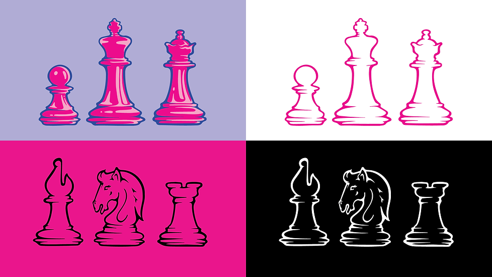 Chess Girls DC // Illustrated Branding & Icons