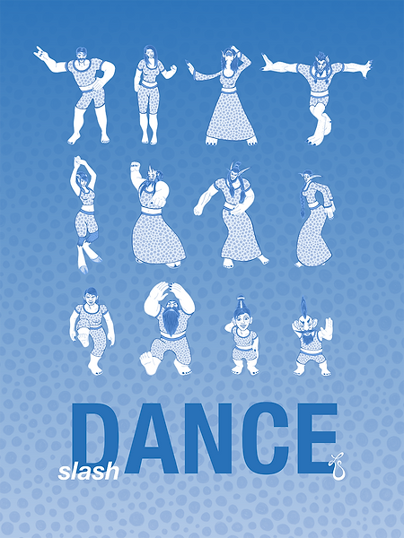 slash Dance (Blue) // Poster Illustration & Design