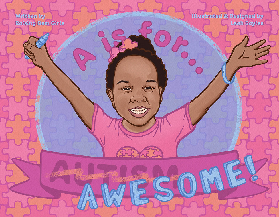 A is for... Awesome! Children's Book Cover Illustration