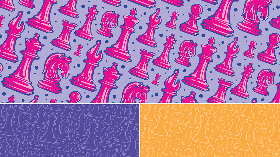Chess Girls DC // Illustrated Surface Design