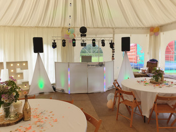 Marquee set up