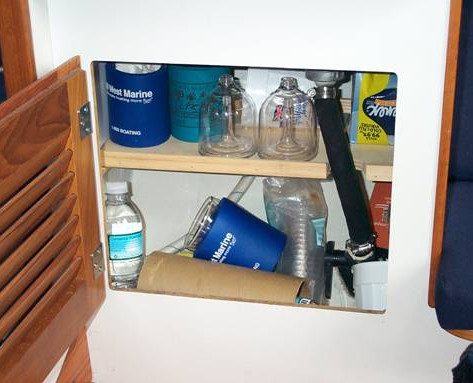 Photo #1 Storage shelf installed under the chart table