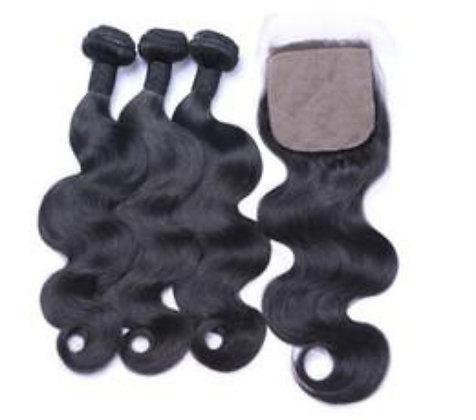 Body wave silk closure bundle deals
