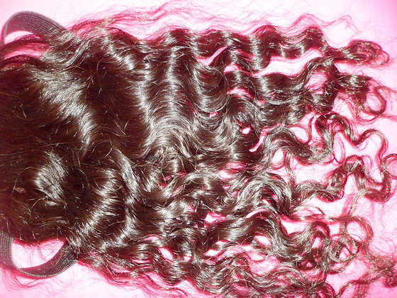 4x4 Loose wavy Lace Closure - Elastic band