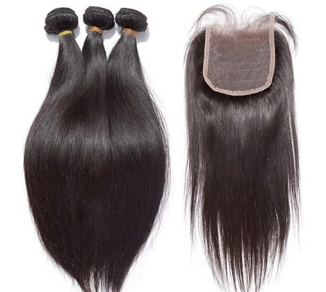Straight Lace Closure Bundle Deals