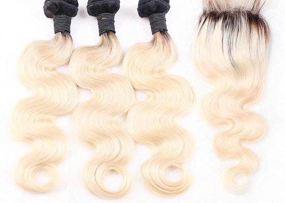 1b / 613 Body Wave Lace Closure Bundle Deals
