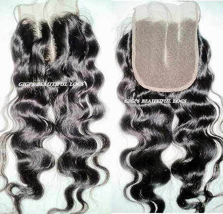 4 x4  loose Wave Lace Closure 3 part closure