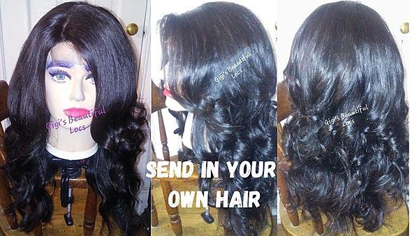 custom handmade wig send in your own hair