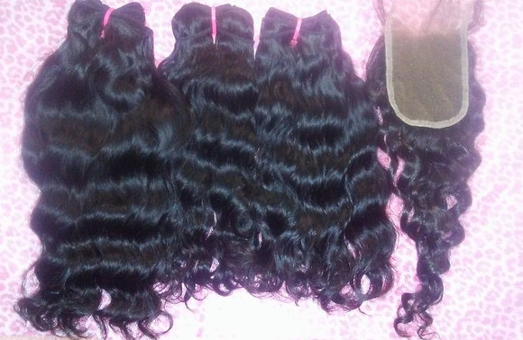 Wavy Lace Closure Bundle Deals