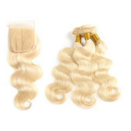 613 Body Wave Silk Closure Bundle Deal
