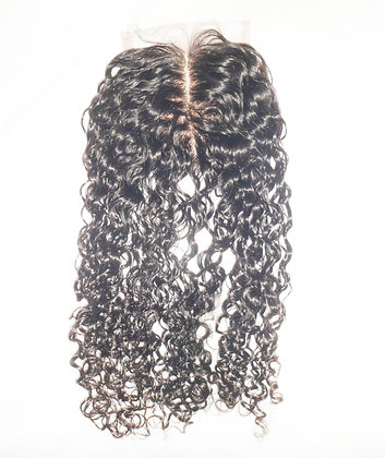tight curl lace closure front view
