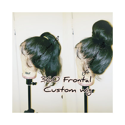360 Frontal custom Wig 12 inches