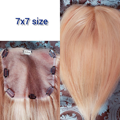 """staight Clip-in  7x7 Lace Closure / Topper 16"""" inches honey Blonde"""