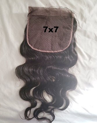 7x7 inch Body Wave Lace Closure back