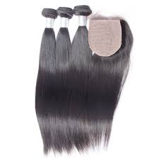 Straight Silk Closure Bundle Deals