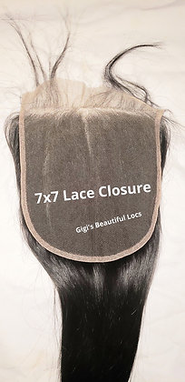 7x7 inch Straight Lace Closure back