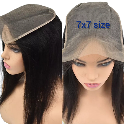 straight 7x7 size Lace closure / Topper 16 inches