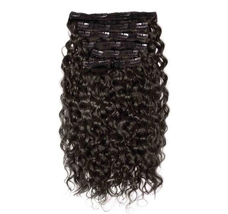 Wavy curly clip-ins extensions 7 pcs
