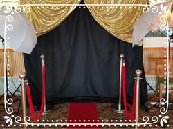 VIP Selfie Booth w/Gold Sequin & Bla