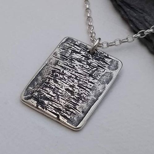 'Moorland' double-sided pendant