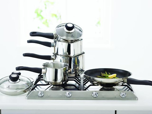 Judge Vista 5pc Saucepan Set
