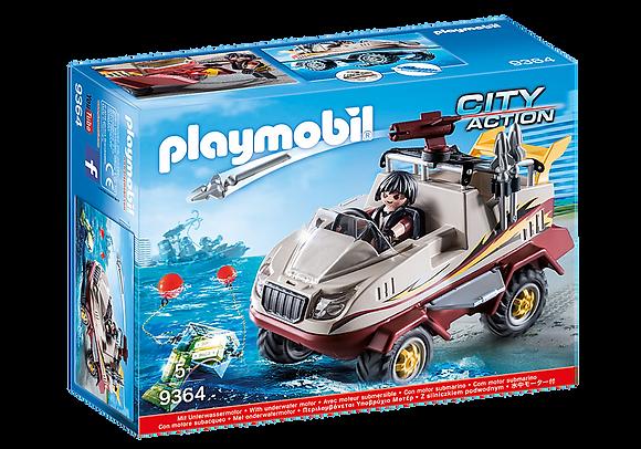 Playmobil 9364 City Action Amphibius Truck With Underwater Motor
