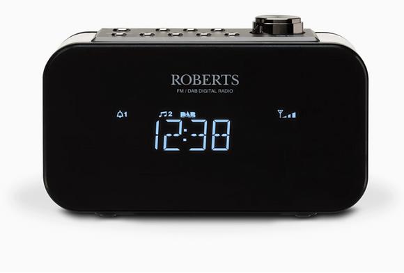 Roberts Ortus2 Black FM/DAB+ Clock Radio