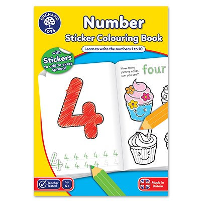 Orchard Number Colouring Book (CB03)