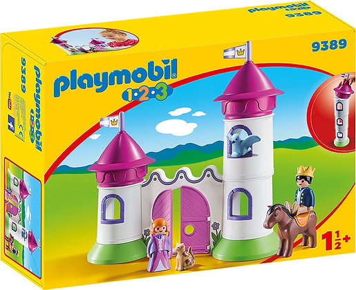 Playmobil 9389 1.2.3 Castle With Stackable Tower