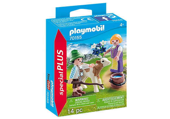 Playmobil 70155 Special Plus Children with Calf